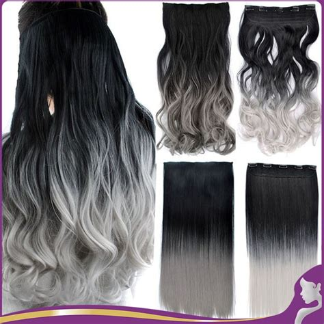Popular Hair Extensions Grey Buy Cheap Hair Extensions