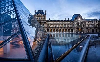 Louvre Paris Pyramid Reflection Buildings Pc Architecture