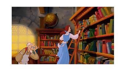 Belle Princess Fun Reading Books Gifs Beauty