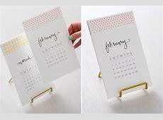 Kalender selbst gestalten 12 nützliche Bastelideen für