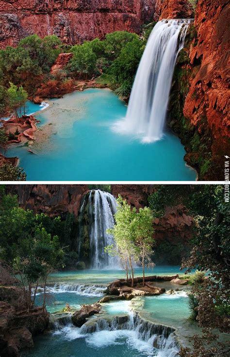Havasu Falls In Havasupai Grand Canyon