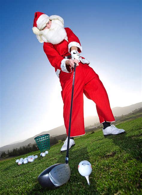 fore golfing santa tees off at dairy creek 187 santa comes