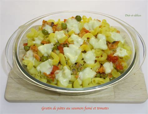 gratin de pates a la tomate gratin de p 226 tes au saumon fum 233 et tomates diet d 233 lices recettes diet 233 tiques