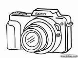 Camera Coloring Drawing Pages Cameras Digital Sony Easy Clipart Canon Printable Simple Drawings Dibujo Colouring Google Cliparts Kidopo Crafts Clip sketch template