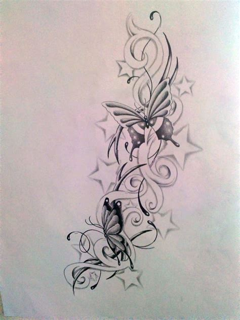 butterfly  star tattoos images  pinterest