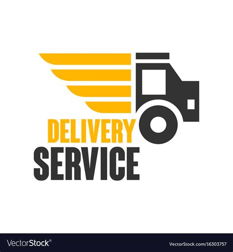 Delivery service logo design template Royalty Free Vector