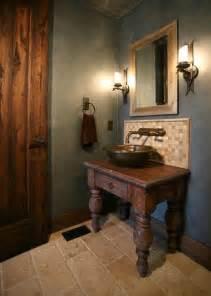 Small Half Bathroom Ideas Photo Gallery by Old World Influenced Bathroom Vanities
