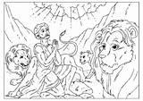 Coloring Den Daniel Lions Pages Popular sketch template