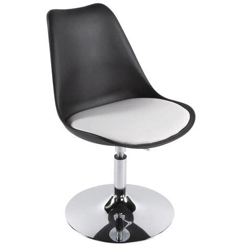 bureau noir et blanc ikea chaise moderne pivotante 39 39 réglable en hauteur
