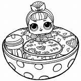 Coloring Surprise Pop Confetti Lol Cartoon sketch template