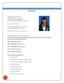 Curriculum Vitae Dalam Bahasa Inggris Doc Sample Good Resumes Template