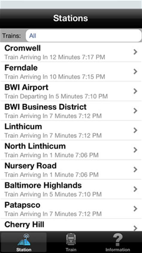 Light Rail Baltimore Schedule by Baltimore Light Rail Schedule 1 0 App For Iphone