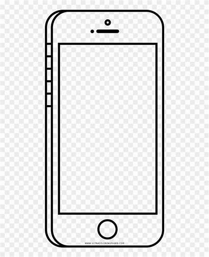 Outline Phone Cell Coloring Clipart Cellphone Frieze