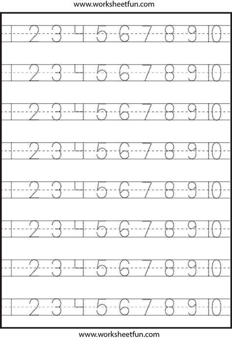 Pre K Number Writing Worksheets  Number Tracing  4 Worksheets Free Printable Worksheets