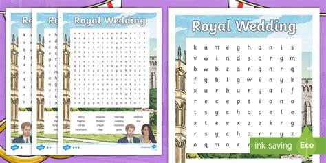 Ks2 Royal Wedding Differentiated Word Search