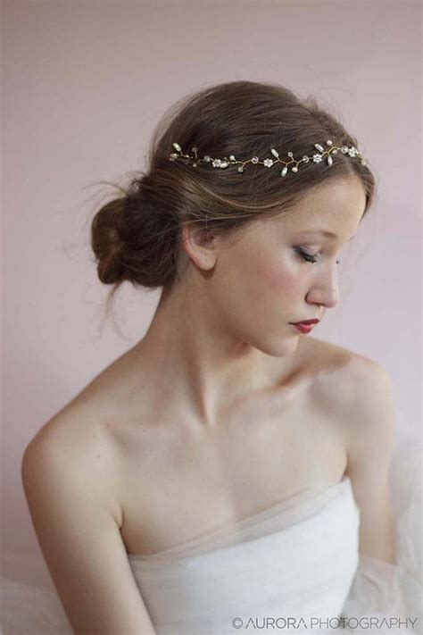 wedding hair vine bridal hair accessories beaded pearl