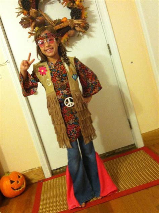 Homemade hippie costume. | Ava School ideas | Pinterest