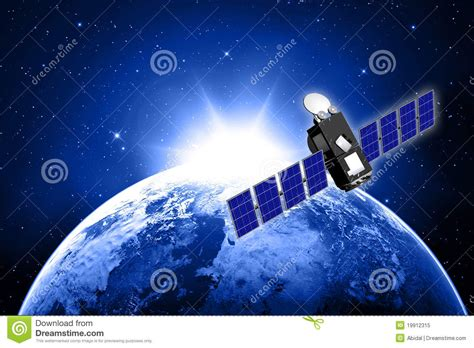 blue planet earth  satellite stock illustration image