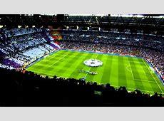 Entrada al Campo e himno Champions League Real Madrid