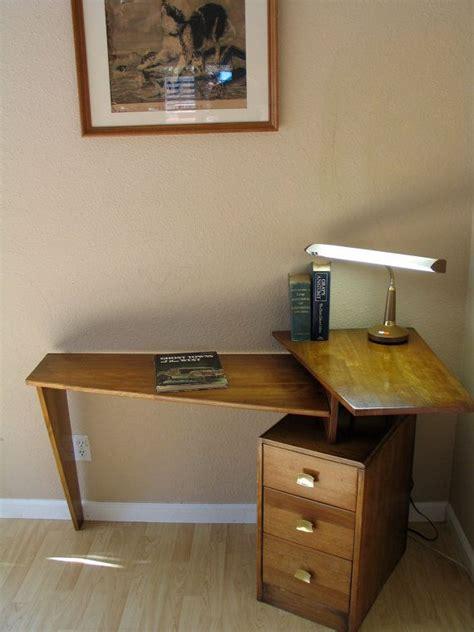 mid century corner desk danish modern mid century teak floating desk atomic studio