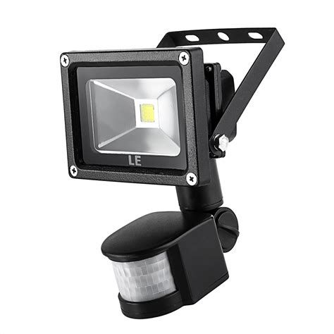 10w Led Floodlight With Pir Sensor Daylight White