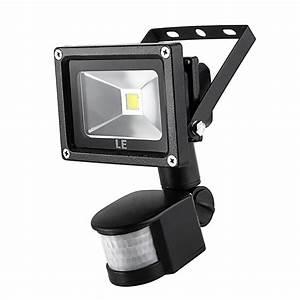 10w Pir Led Flood Light  700lm 6000k Motion Sensor