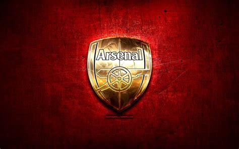 Download wallpapers Arsenal FC, golden logo, Premier ...
