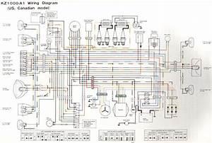 Kawasaki Kz1000 Information  U2014 Kz1000 Wiring Diagram  1977