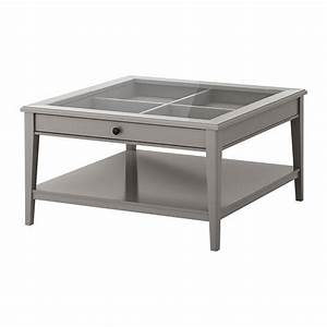 Ikea liatorp coffee table gray glass practical for Coffee table with storage and glass top