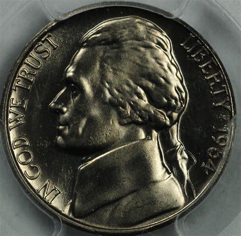 1964 nickel value 1964 d jefferson nickel pcgs ms66