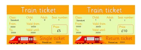 Editable Rail Tickets, Eyfs, Ks1 Role Play  Free Early