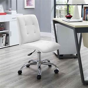 Modway, Prim, Armless, Midback, Leatherette, Office, Chair, -, Walmart, Com