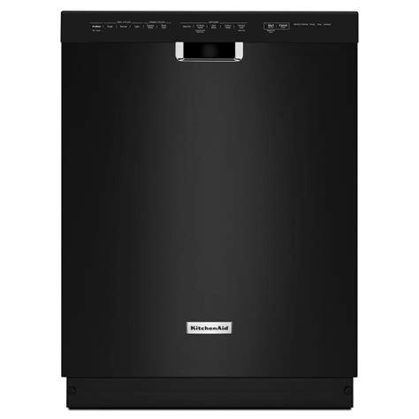 kitchen aid dishwashers kitchenaid front dishwasher in black with