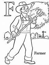 Coloring Labor Farmer Printable sketch template