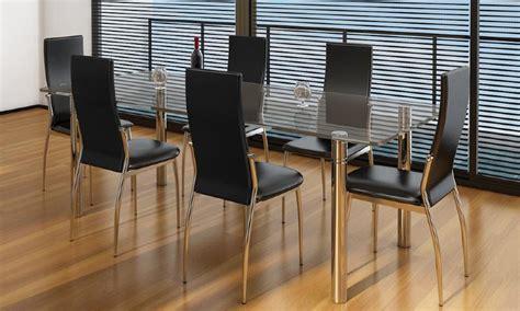 6 chaises de salle a manger chaises salle à manger noires similicuir lot de 4