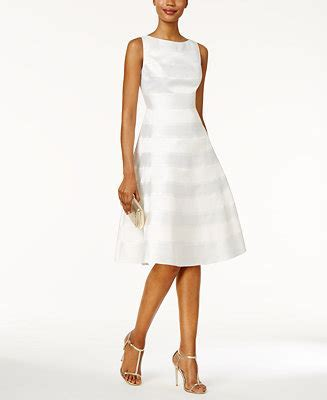 Adrianna Papell Striped A line Dress   Dresses   Women