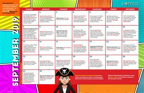 teen library program ideas calendar september