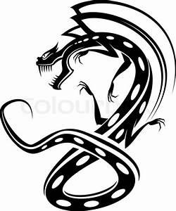 Drachen Schwarz Weiß : isolierte t towierung schwarzen drachen auf wei vektorgrafik colourbox ~ Orissabook.com Haus und Dekorationen