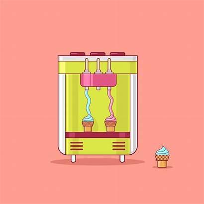 Ice Machine Cream Vending Clipart Graphics