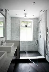 une salle de bains grise elegance et chic contemporain With porte de douche coulissante avec meuble salle de bain elegance