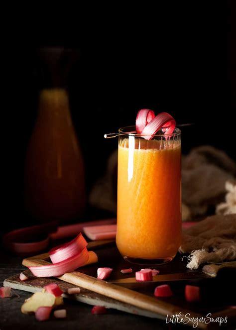 rhubarb juice ginger recipes apple orange drinks littlesugarsnaps rhubarbarians ultimate