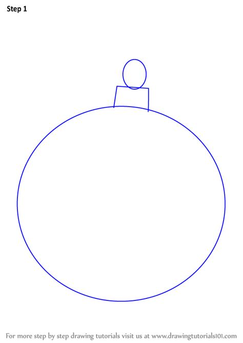learn   draw  christmas bauble christmas step