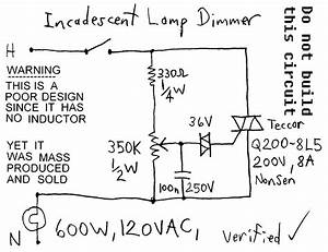 Lamp Dimmers 600w 120vac Lamp Dimmer