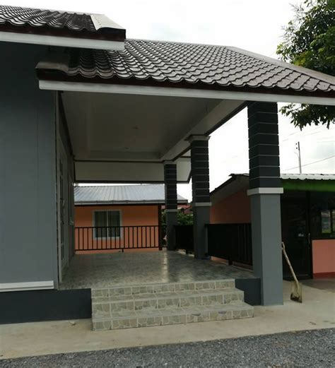 single story house  contemporary design   sqm  provisions   function hall