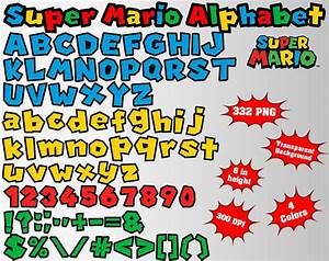 super mario alphabet numbers and symbols 332 png 300 dpi With super mario letters