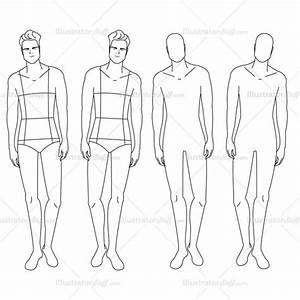 male fashion croquis template illustrator stuff With fashion templates front and back female