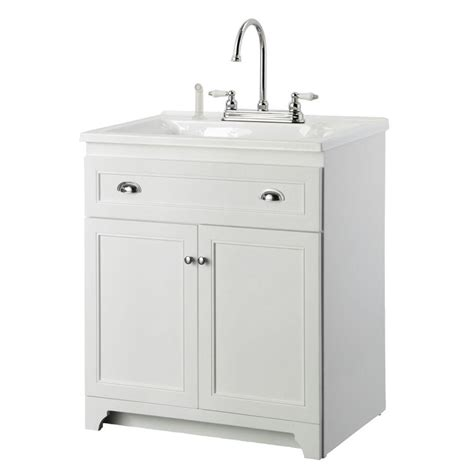 white laundry sink cabinet foremost keats 30 in laundry vanity in white and premium