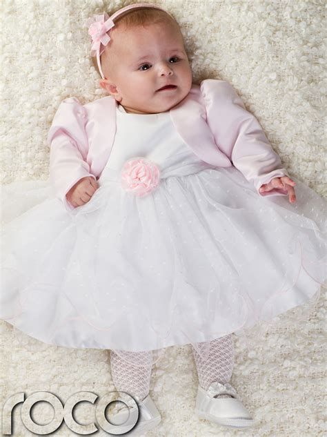 infant wedding dresses baby pink white dress pink bolero jacket wedding babys bridesmaid dresses ebay
