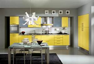 15 modern kitchen design ideas in bright color combinations With kitchen cabinets lowes with bright coloured wall art