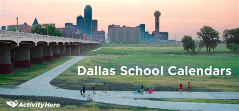 dallas area school district calendar activityhero blog